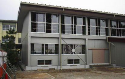 帯解小学校屋内運動場耐震補強工事